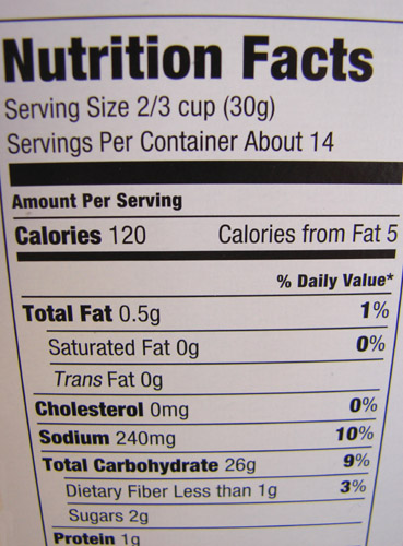 suppose we can   t really count the F  amp  E cereal fraud as the same    Corn Flakes Nutrition Facts Label