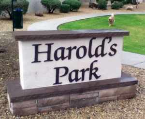 Harolds Park-CR - sign