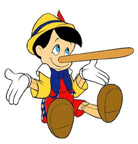 Pinnochio-long nose gesture