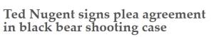 Ted Nugent headline